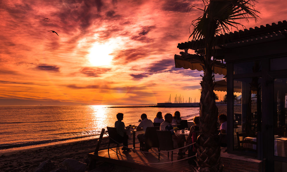 things to see and do in Marbella - Have dinner on the beach at a chiringuito beach bar