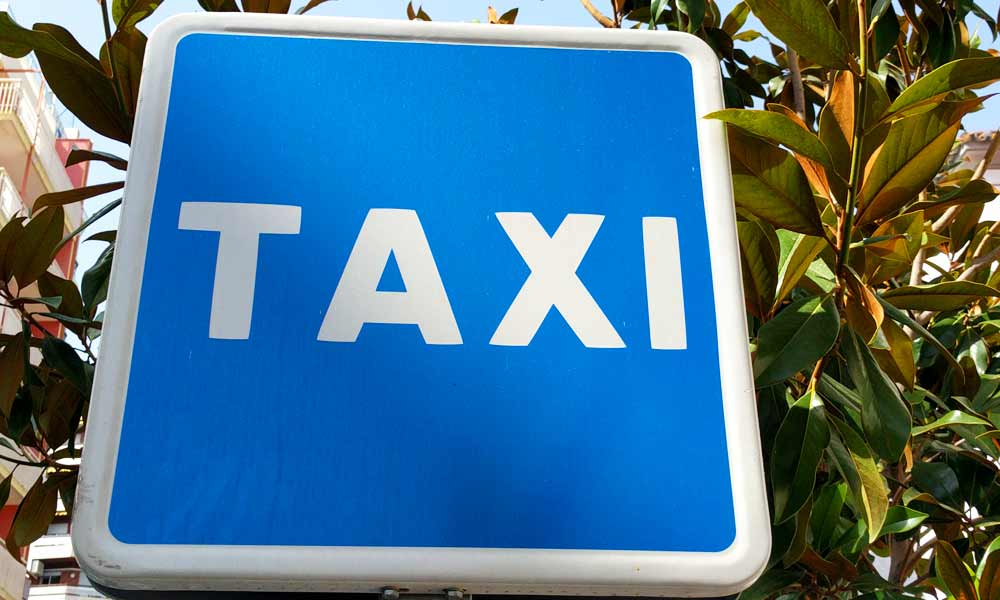 Taxi sign in Marbella