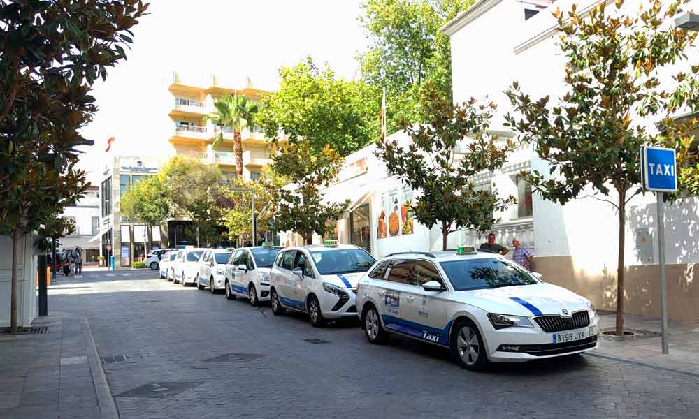 Taxi stand in Marbella