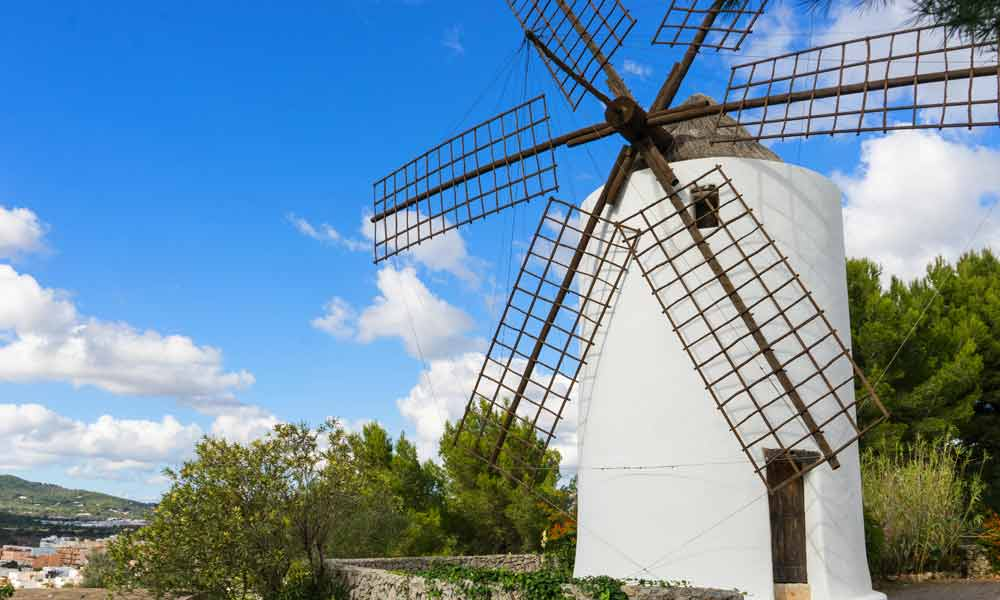 things to see and do in San Antonio, Ibiza - windmill